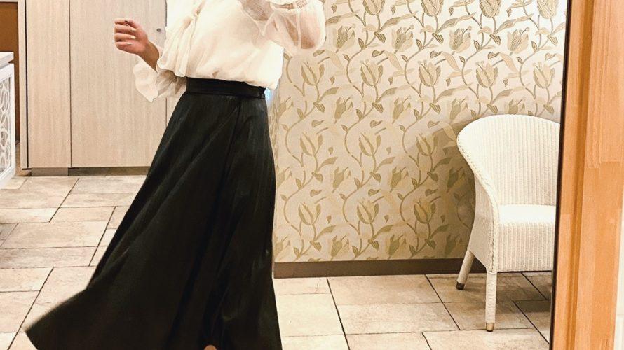 秋の着回し紹介!レザースカートを主役にした5日間平日コーデ♡